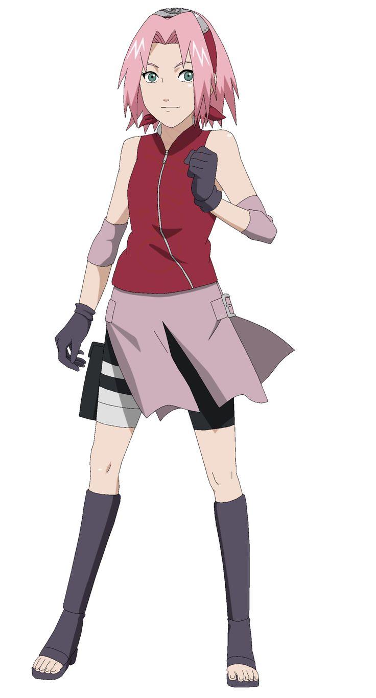 Sakura Haruno Shippuden - Lineart Colored by DennisStelly