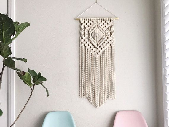 Macrame Wall Hanging Pattern  Pattern Name - Center Diamond  Buy three patterns and get one free! Coupon Code: MyFreePattern  This is a digital download pattern/DIY for a Macrame Wall Hanging that I designed. It list the materials needed as well as a step-by-step on how to complete the project. Suitable for a beginner if you work alongside my YouTube Macrame videos which can be found at tinyurl.com/reformfibers  ***This is for the pattern only; completed project, or Knot Guide not i...