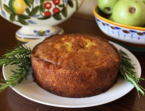 Italian Food Forever » Rustic Apple Cake With Rosemary Syrup