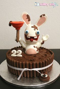 Best 25 fondant rabbit ideas on pinterest fondant - Gateau lapin cretin ...