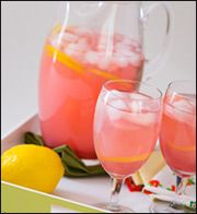 Sassy 'n Spiked Pink Lemonade Pitcher  Perfect Summer BBQ Drink  Made with Diet Cranberry Juice and Crystal Light Lemonade. Taste just as good but minus all the sugar and calories.