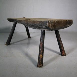 18th Century Antique Oak Pig Bench Coffee Table. - Decorative Collective