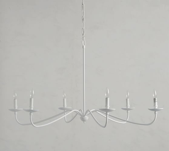 Lucca Chandelier White Pottery Barn Vintage Candle