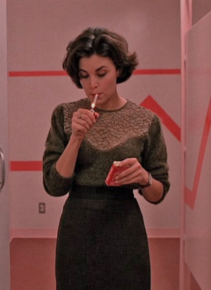 Audrey Horne/Twin Peaks, she was so hot!!,loved the way she smoked cigarettes