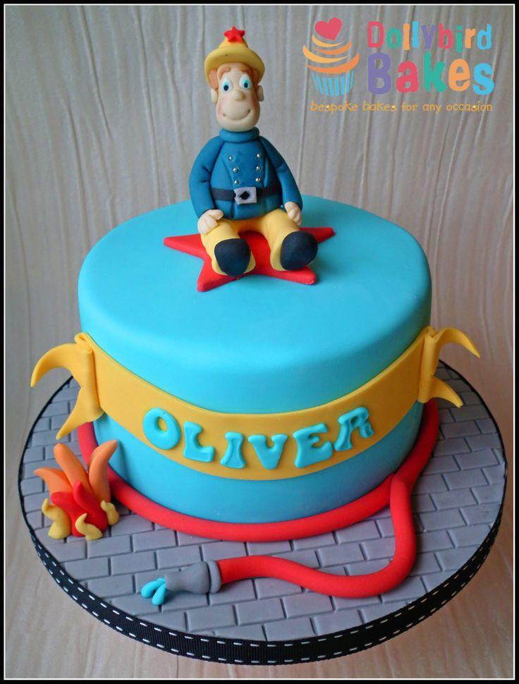 Fireman Sam Cake Dollybirdbakes Boys Birthday Cake