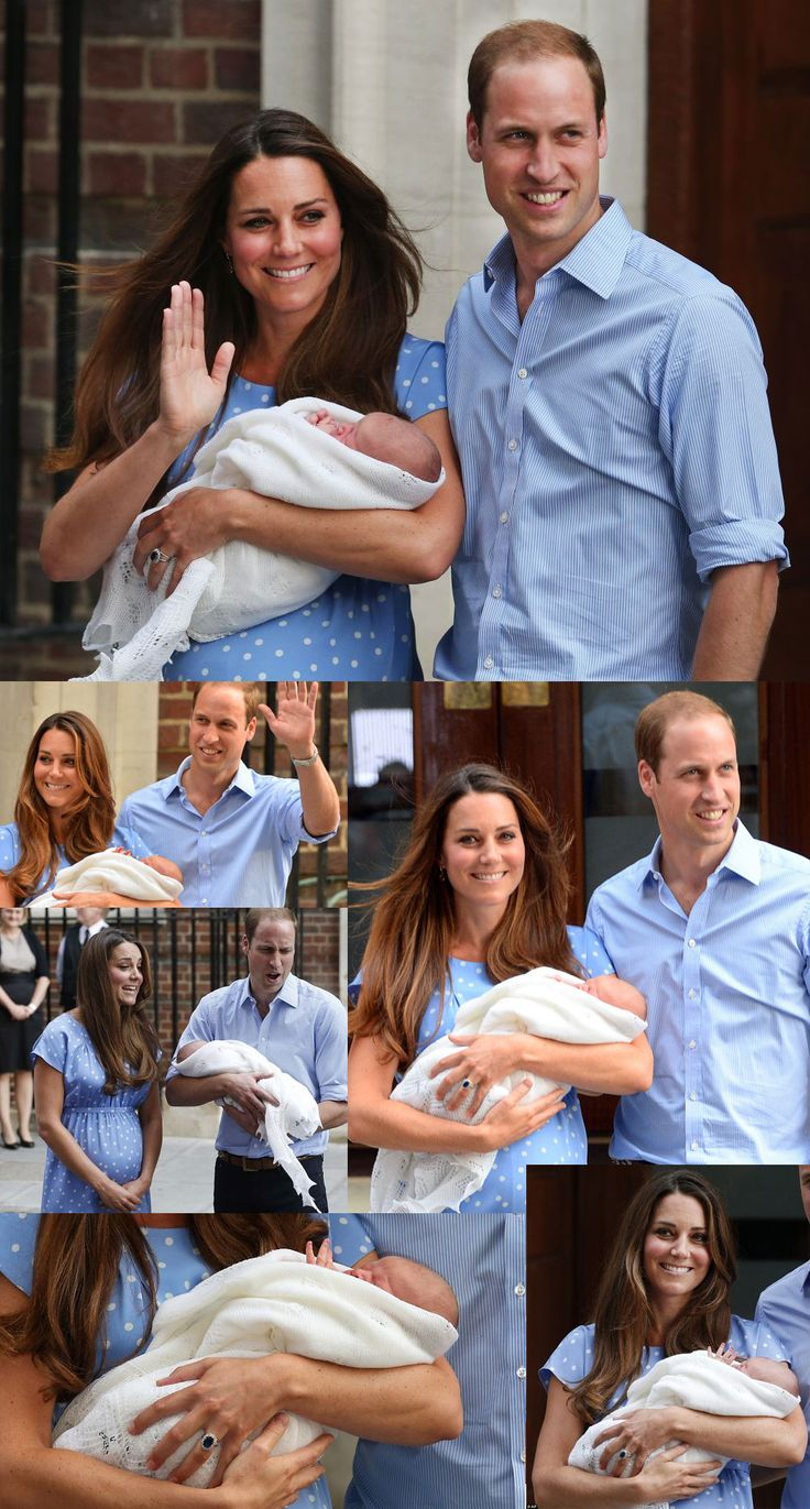 First pictures of the royal baby - Kate Middleton and Prince William introduce their son to the world