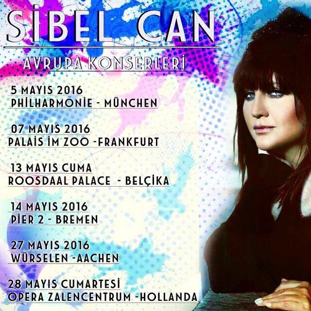 Sibel Can Avrupa Konserleri...