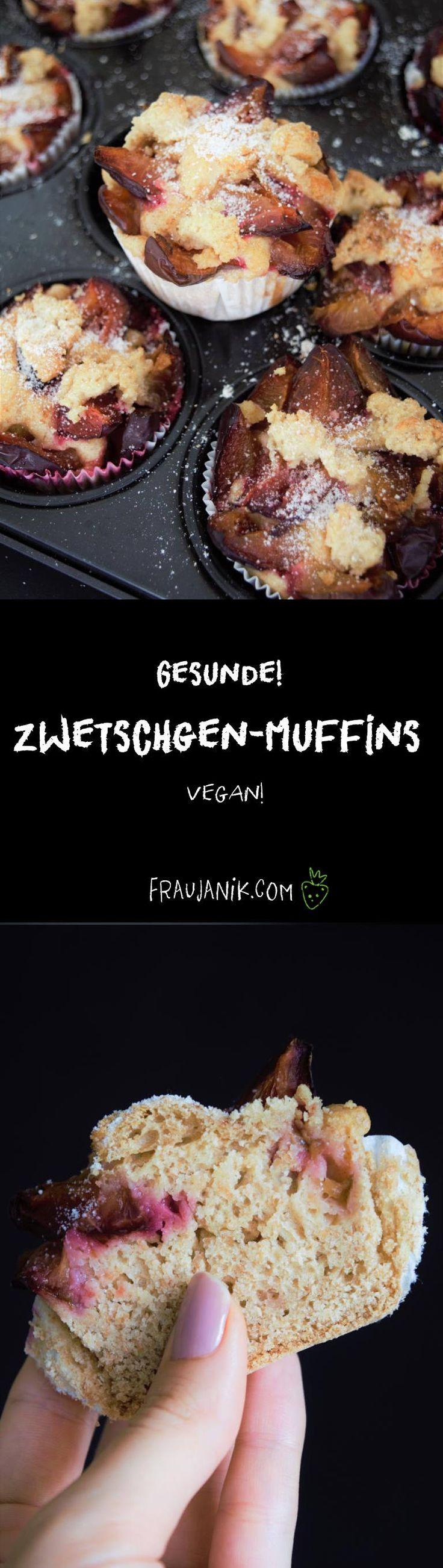 Gesunder Zwetschgenkuchen aus Hefeteig mit Cashew-Hafer-Streusel- vegan, mit Dinkelvollkornmehl & sehr wenig Zucker …