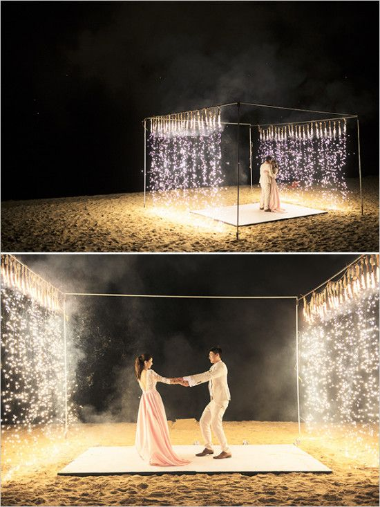 sparkler first dance beach dance floor | Decor & Details ...