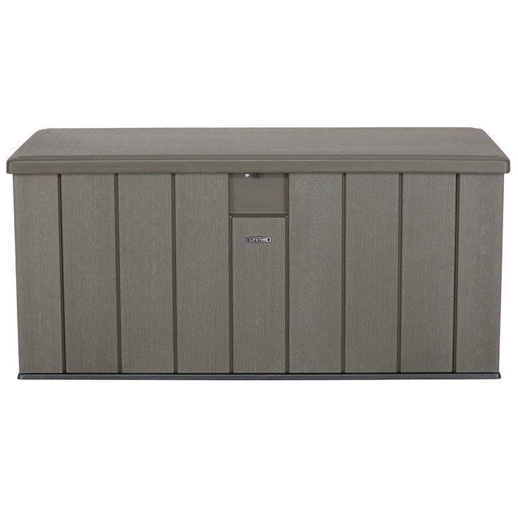 Lifetime 60215 Rough Cut Textured 150 Gallon Outdoor Storage Box