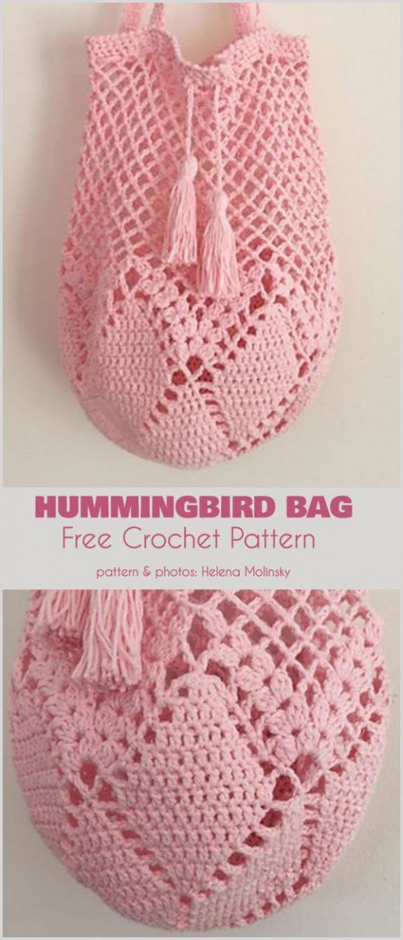 Hummingbird Bag Free Crochet Pattern