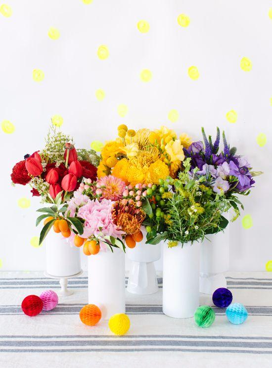 Frühlingsnafang // rainbow flowers !
