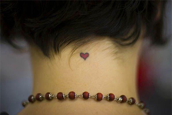 Tiny neck tattoo