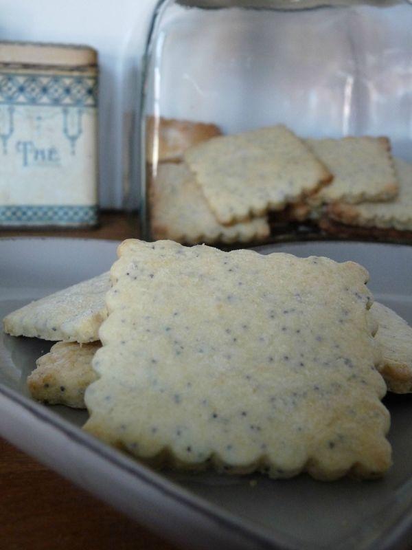 biscuits au citron et  graines de pavot...