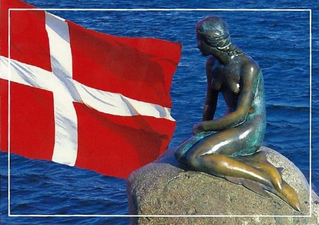 The national flag of Denmark, Dannebrog, is red with a white Scandinavian cross that extends to the edges of the flag; the vertical part of the cross is shifted to the hoist side. The cross design of the Danish flag was subsequently adopted by the other Nordic countries; Sweden, Norway, Finland, Iceland and the Faroe Islands, as well as the non-Nordic Scottish regions of Shetland and Orkney.