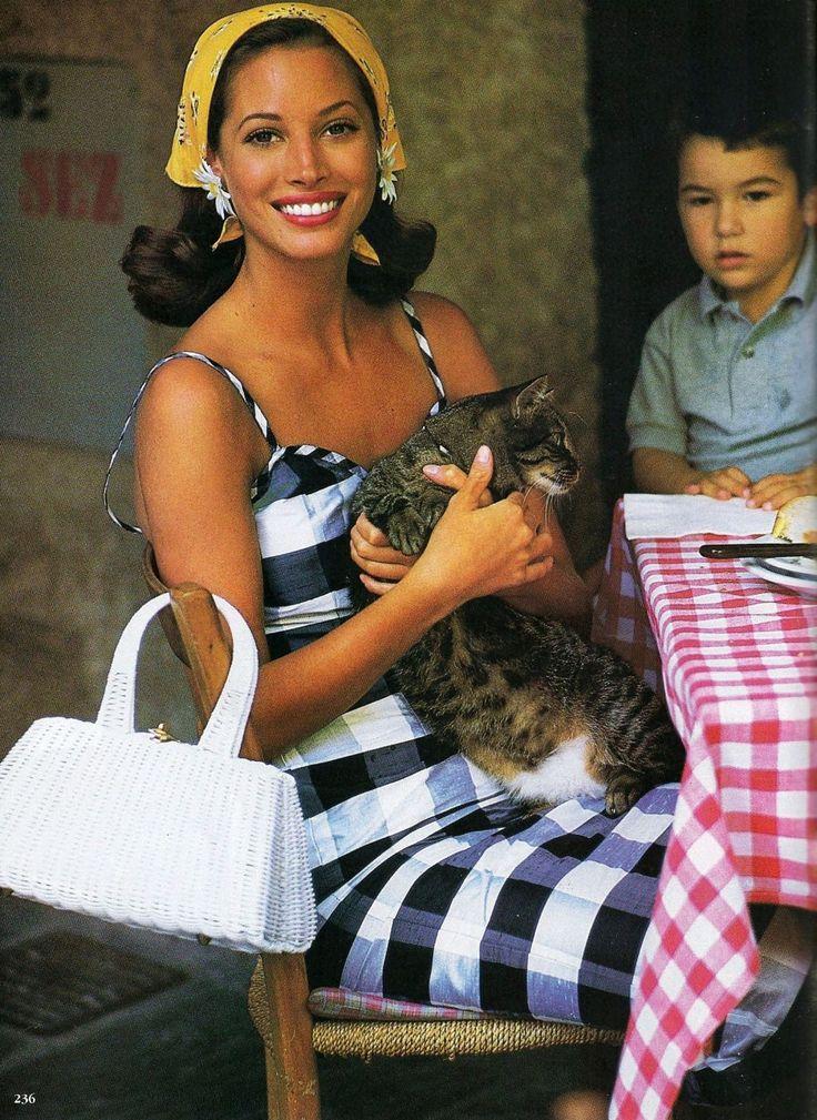 Christy Turlington by Arthur Elgort and Carlyne Cerf de Dudzeele. Vogue US December 1993