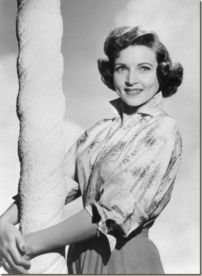 Betty White. Beautiful woman!...may I live to be that wonderful