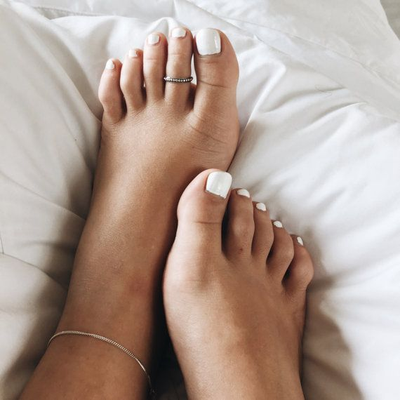 Sterling silver tribal toe ring Boho silver toe ring Minimal