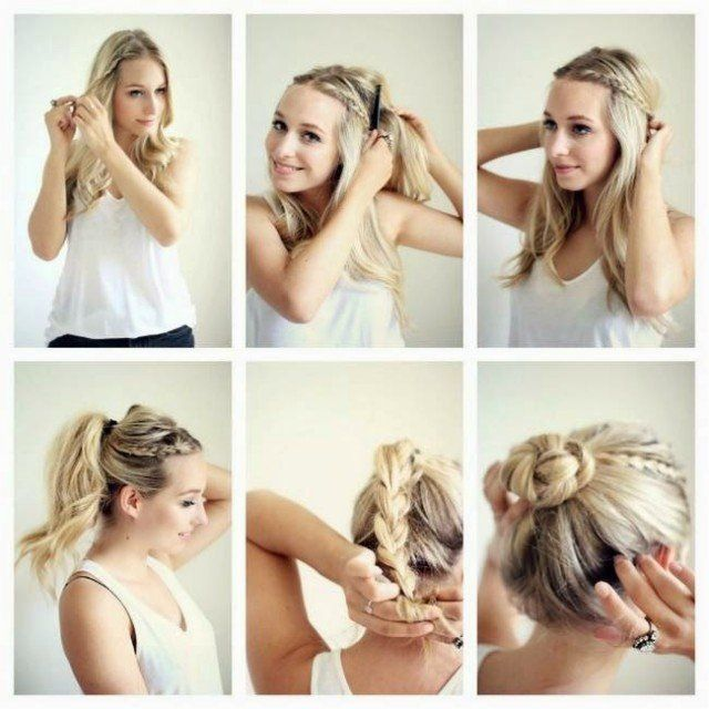 14 simple hairstyle tutorials for the summer