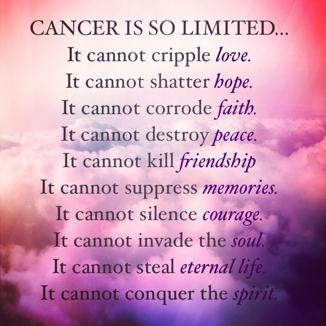 What Cancer Cannot Do
