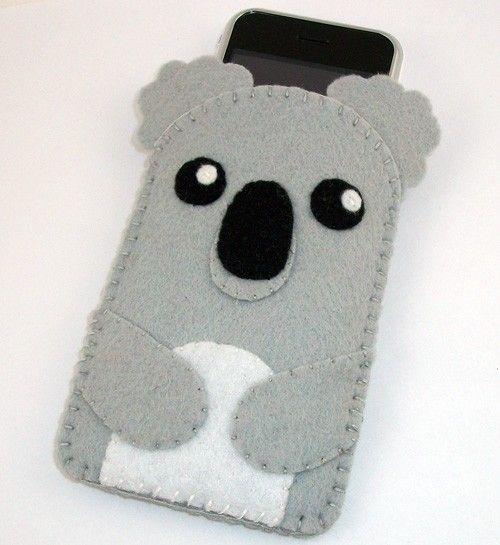 Baby Koala Kawaii Bear Felt Case  iPhone iPod by TheCuriousCaseLLC                                                                                                                                                                                 More