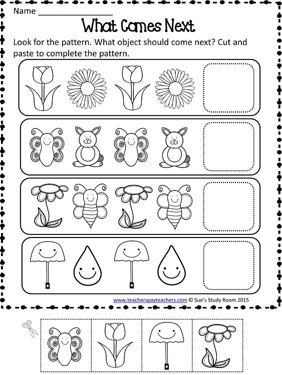 Spring Patterns Worksheets