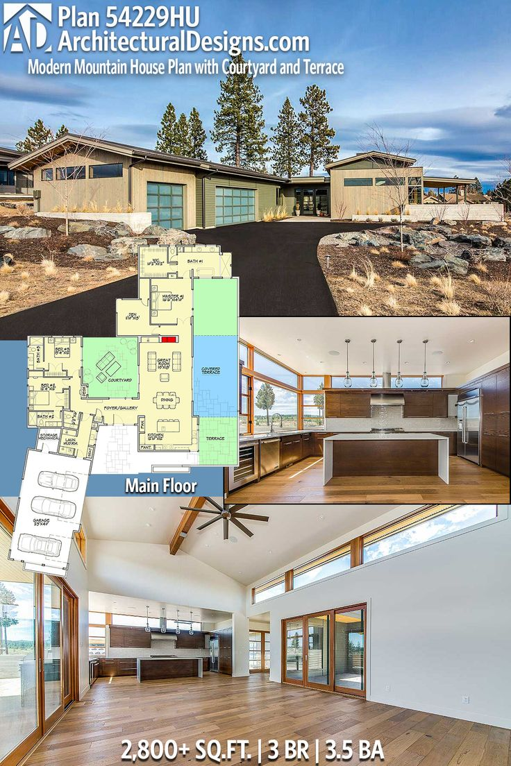 Architectural Designs House Plan 54229HU is a gorgeous mountain refuge. 3BR | 3.5BA | 2,800+ Sq.Ft. | Ready when you are. Where do YOU want to build? #54229HU #adhouseplans #architecturaldesigns #houseplan #architecture #newhome #newconstruction #newhouse #homedesign #dreamhome #dreamhouse #homeplan #architecture #architect #homedecor #homesweethome #mountainhouse #modern