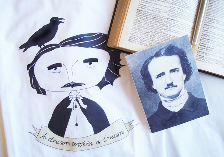 "Edgar Allan Poe ♦ ""Famous Portraits"" organic cotton t-shirts, by Rooftop"
