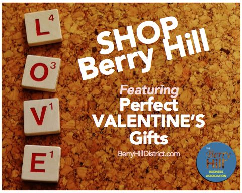 Shop Berry Hill for Valentine's Day! #Flowers #Massages #Salons #Restaurants #Games #Antiques #Jewelry #AndMORE!!! http://www.berryhilldistrict.com/