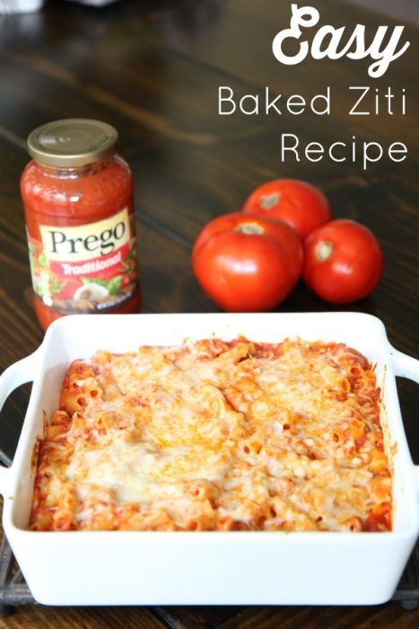 Tips for Planning the Perfect Back to School Dinner :: This Easy Baked Ziti Recipe is delicious and easy when you use Prego Traditional Italian Sauce! It is a perfect meal for back to school dinners! [ad]   #CampbellSavings @walmart