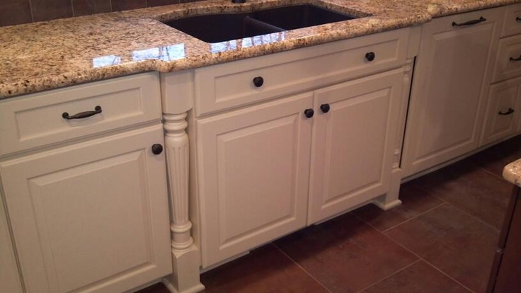 kitchen cabinet columns beautiful mouser custom cabinetry featuring staggered sink 18359