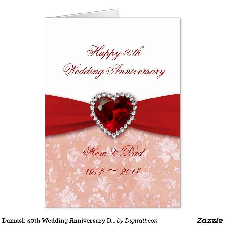 Damask 40th Wedding Anniversary Design
