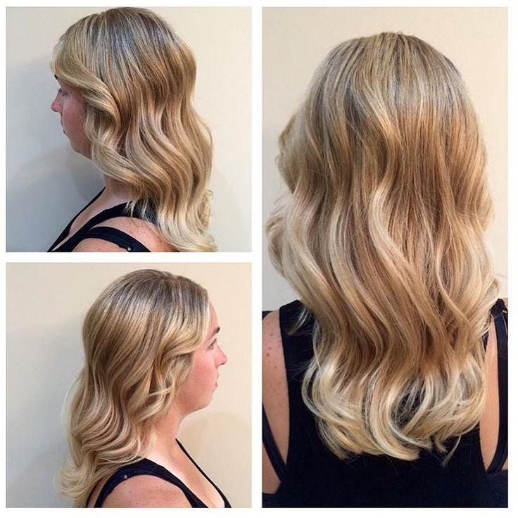 beautiful dimensional blonde hair