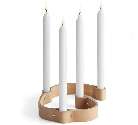 Use a belt for a candle holder. Great for advent :)
