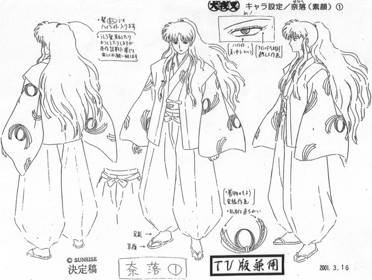 inuyasha inuyasha anime settei height reference 1