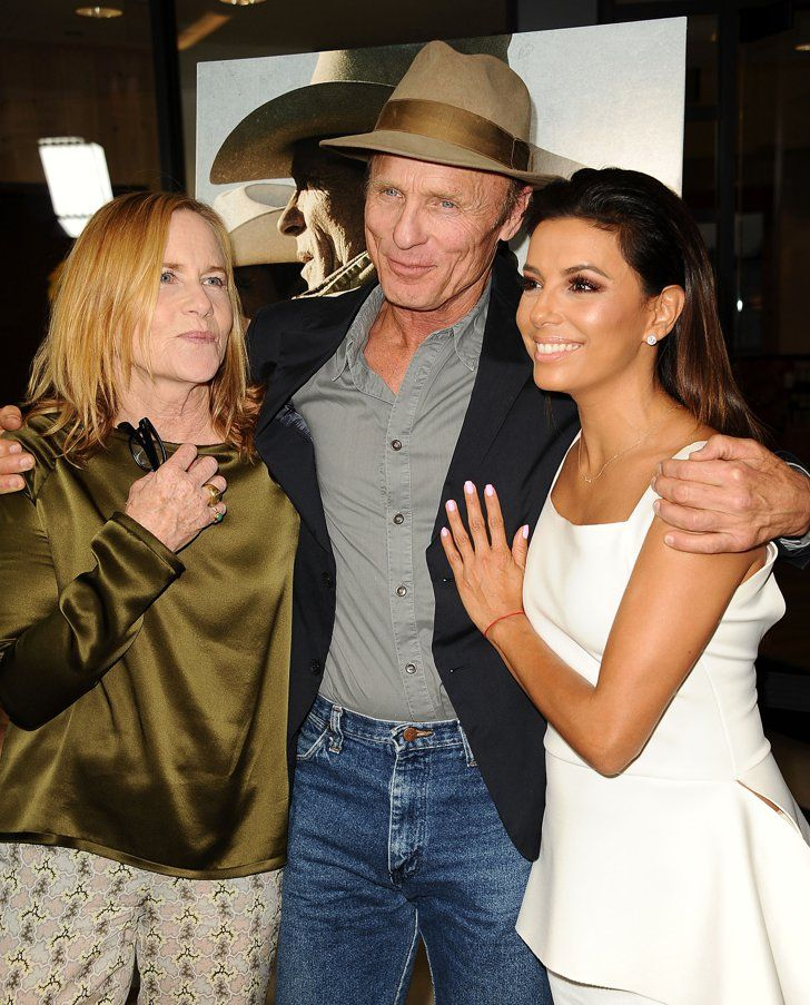 Pin for Later: This Week's Can't-Miss Celebrity Photos  Eva Longoria got close to Ed Harris and Amy Madigan at the premiere of Frontera in LA.