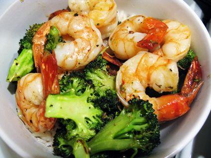 Roasted Shrimp & Broccoli