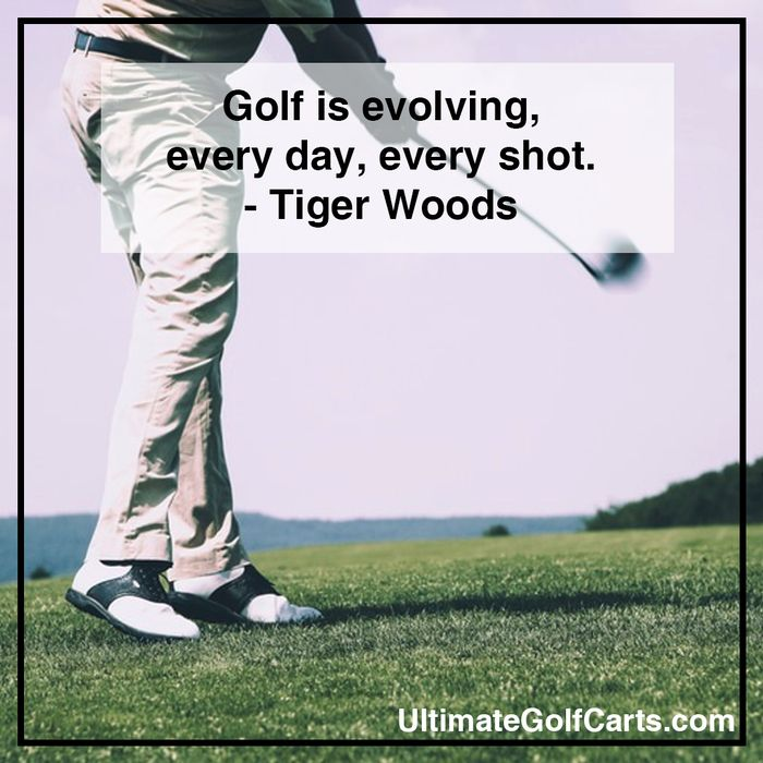 Golf is evolving, every day, every shot. - Tiger Woods