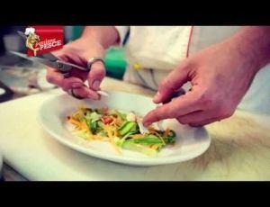 Ricetta dell'insalata croccante di gamberi e seppie