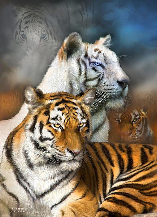 Tiger Spirit art by Carol Cavalaris.
