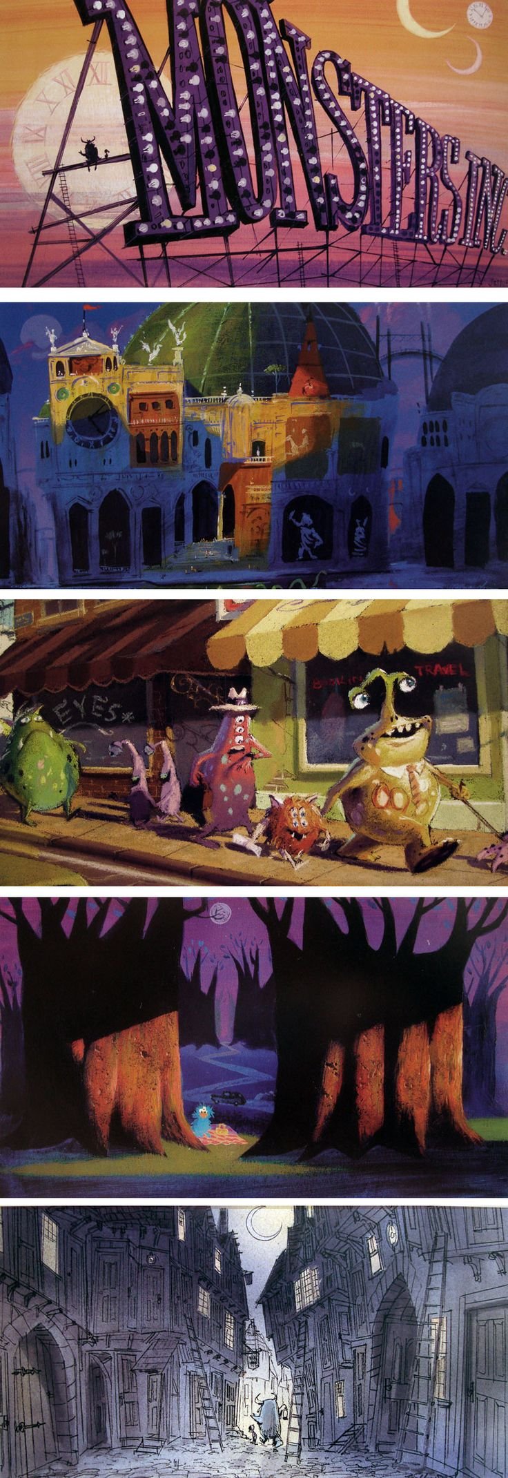 Concept art from Monsters Inc. The only Pixar concept art book missing from my collection