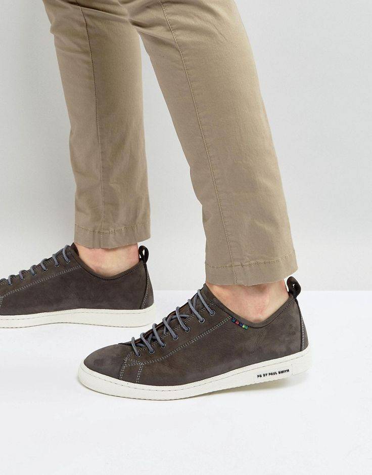 Get this Ps By Paul Smith's sneakers now! Click for more details. Worldwide shipping. PS by Paul Smith Miyata Nubuck Trainers in Grey - Grey: Trainers by PS By Paul Smith, Nubuck leather upper, Lace-up fastening, Contrast stitching, Chunky sole, Embossed logo detail, Moulded tread, Wipe with a soft cloth, 100% Real Leather Upper. Designed in the UK, PS by Paul Smith bears all the hallmarks of Sir Paul Smith�s individual and quintessentially British style. Signature prints are spread across…