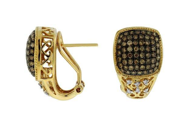 *Come back stock again! -- Mocha Diamond Earring Collection.