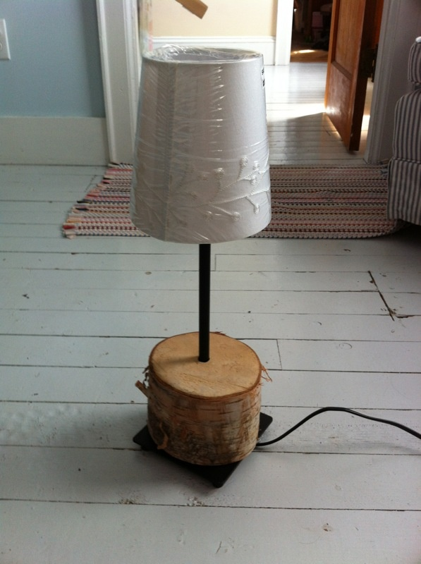 How about cutting a piece of birch wood (my favourite!) and a lamp standard and making it into a lovely peace of art...  Enjoy the workshops @ www.blueberry-bay.com or stay at www.cottage-nova-scotia.com
