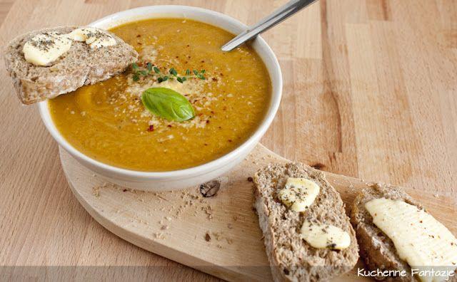 pyszny krem, marchewka, zupa, soczewica, imbir, przyprawy, bulion