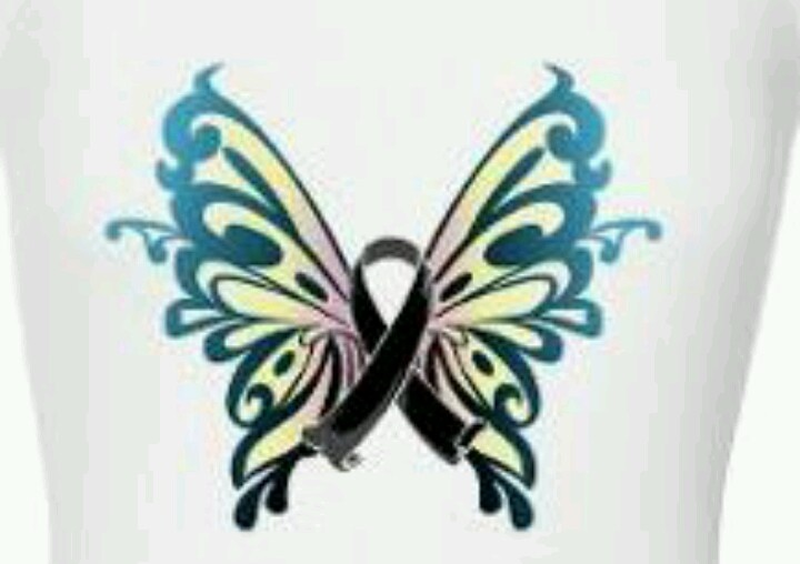 This is my melanoma ribbon tattoo I am getting