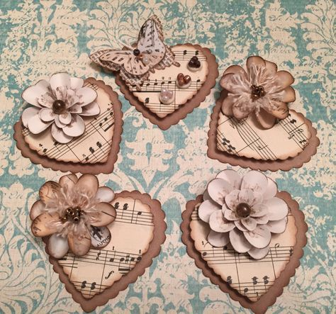Scrapbooking, Cardstock Flowers, 3D Gildings, Tags, Playing cards, Blended Media…