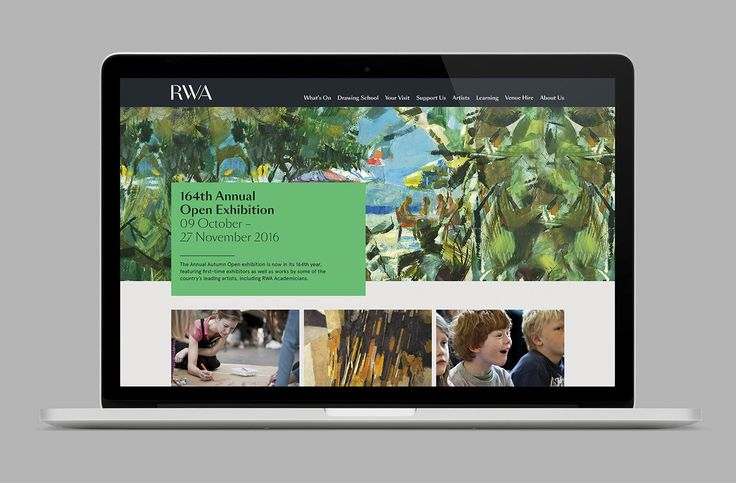 Royal West of England Academy by Spy, United Kingdom. #branding #website