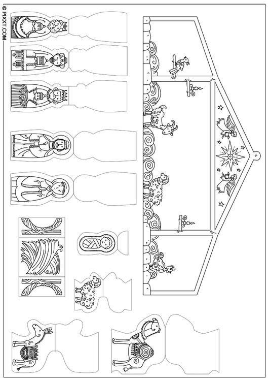 Krippenspiel x Basteln für Kinder | Bastelvorlagen 28192. Die schönsten Bastelarbeiten und Bastelvorlagen findest Du hier!