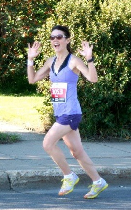 """Amy Nachtigall—Edmonton Derby Marathon 2012.  Check out Amy's story and the winner of """"best dressed award."""" She won a Kate Spade bag."""